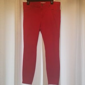 Loft red legging pants
